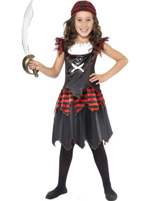 Pirate Skull & Crossbones Girl Costume-Costumes - Girls-Jokers Costume Hire and Sales Mega Store