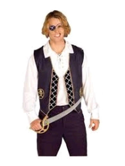 Pirate Vest - Size Std-Costumes - Mens-Jokers Costume Hire and Sales Mega Store