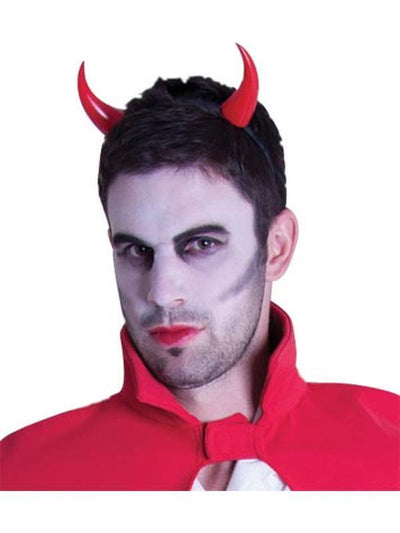 Plastic Devil Horns on Headband-Hats and Headwear-Jokers Costume Hire and Sales Mega Store