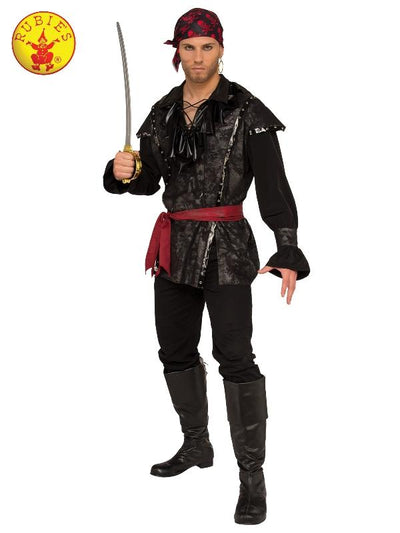 PLUNDERING PIRATE COSTUME - SIZE XL-Costumes - Mens-Jokers Costume Mega Store