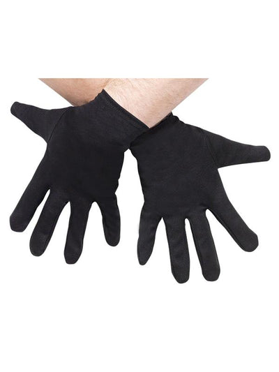 Plus Size Gloves - Black-Armwear-Jokers Costume Hire and Sales Mega Store