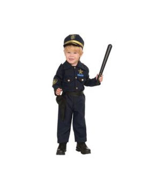 Policeman Costume - Size Toddler-Costumes - Boys-Jokers Costume Hire and Sales Mega Store