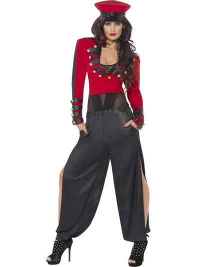 Pop Starlet Costume, Red and Black-Costumes - Women-Jokers Costume Hire and Sales Mega Store