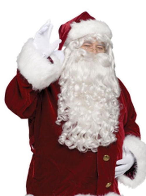 Professional Santa Wig & Beard Set-Costumes - Mens-Jokers Costume Hire and Sales Mega Store