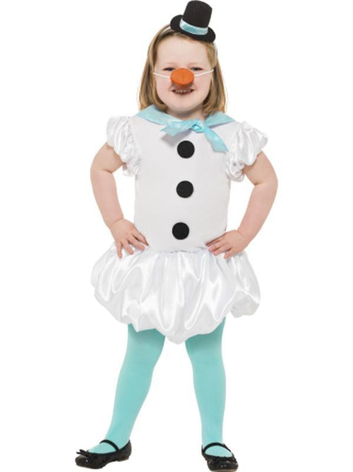 Puffball Snowgirl Costume-Costumes - Girls-Jokers Costume Hire and Sales Mega Store
