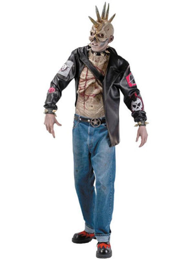 Punk Zombie Costume - Size Std-Costumes - Mens-Jokers Costume Hire and Sales Mega Store
