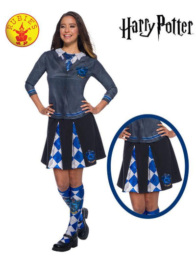 RAVENCLAW ADULT SKIRT - ONE SIZE-Costumes - Women-Jokers Costume Hire and Sales Mega Store