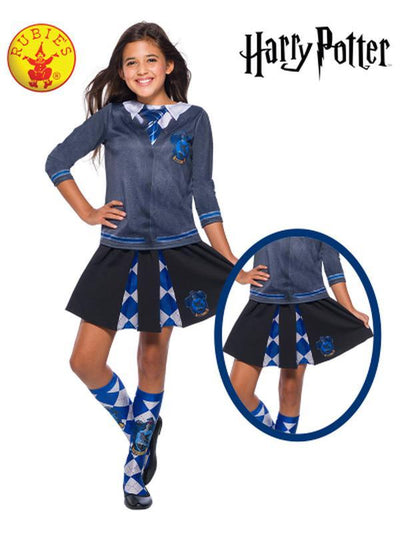 RAVENCLAW CHILD SKIRT - ONE SIZE-Costumes - Girls-Jokers Costume Hire and Sales Mega Store