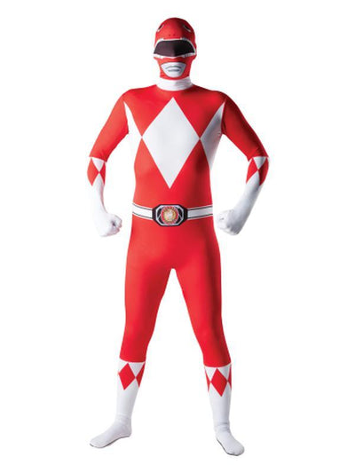 Red Power Ranger 2Nd Skin Suit- Size Xl-Costumes - Mens-Jokers Costume Hire and Sales Mega Store