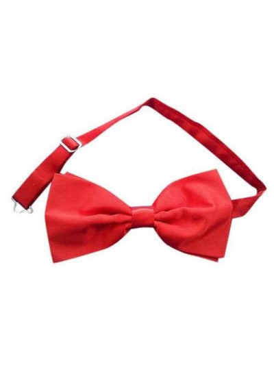 Red Satin Adjustable Bow Tie-Costume Accessories-Jokers Costume Mega Store