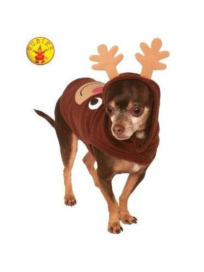 REINDEER HOODIE PET COSTUME - SIZE L-Costumes - Pets-Jokers Costume Hire and Sales Mega Store