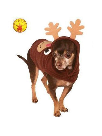 REINDEER HOODIE PET COSTUME - SIZE M-Costumes - Pets-Jokers Costume Hire and Sales Mega Store