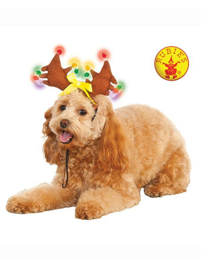REINDEER LIGHT-UP PET COSTUME - SIZE S-M-Costumes - Pets-Jokers Costume Hire and Sales Mega Store