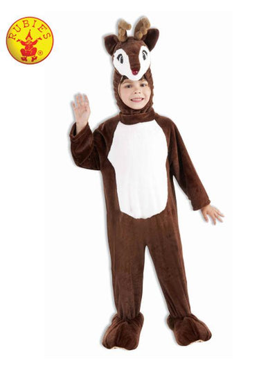 REINDEER PLUSH MASCOT COSTUME - SIZE S-Costumes - Boys-Jokers Costume Hire and Sales Mega Store