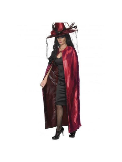 Reversible Cape Red and Black-Costume Accessories-Jokers Costume Hire and Sales Mega Store