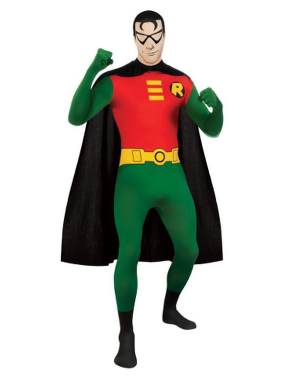 Robin 2Nd Skin Suit - Size Xl-Costumes - Mens-Jokers Costume Hire and Sales Mega Store