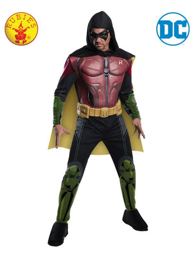 ROBIN DELUXE MUSCLE CHEST COSTUME - SIZE SMALL-Costumes - Mens-Jokers Costume Mega Store