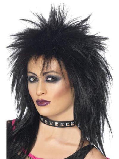 Rock Diva Wig - Black-Wigs-Jokers Costume Hire and Sales Mega Store