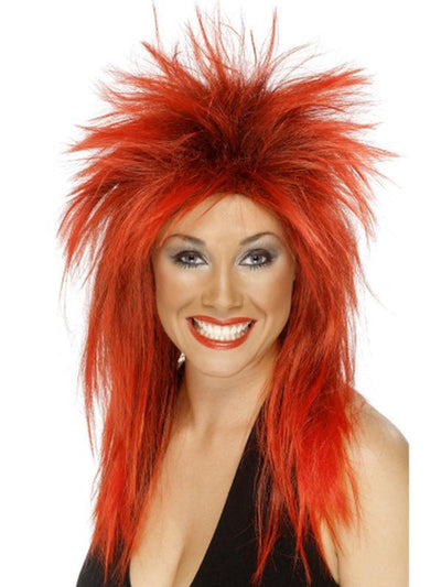 Rock Diva Wig - Red-Wigs-Jokers Costume Hire and Sales Mega Store