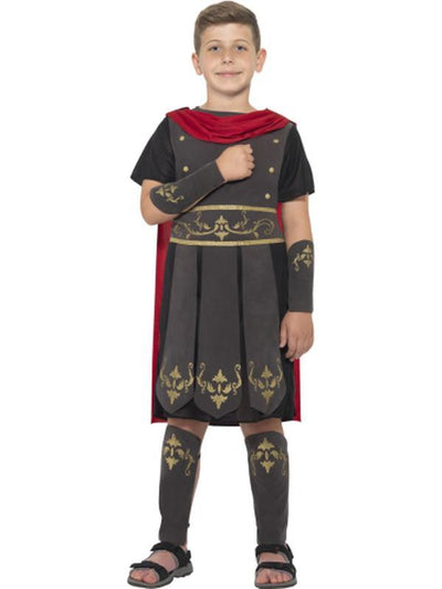 Roman Soldier Costume - Black-Costumes - Boys-Jokers Costume Hire and Sales Mega Store