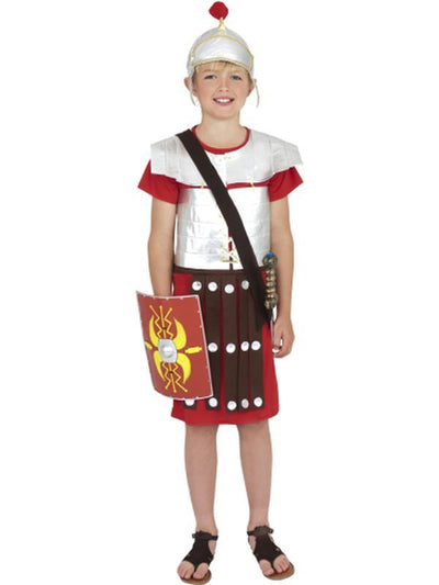 Roman Soldier Costume - Red-Costumes - Boys-Jokers Costume Hire and Sales Mega Store