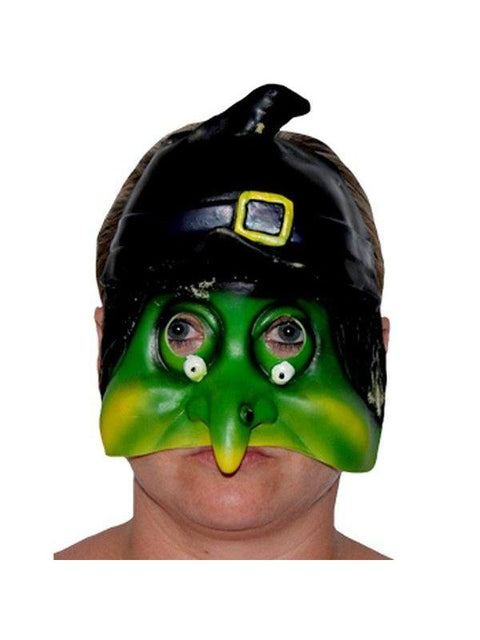 Rubber Childs Half Mask - Witch-Masks - Halloween-Jokers Costume Hire and Sales Mega Store