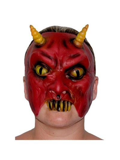 Rubber Half Mask - Evil Devil-Masks - Latex-Jokers Costume Hire and Sales Mega Store