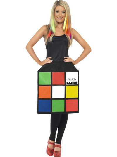 Rubik's Cube Costume, 3D Dress-Costumes - Women-Jokers Costume Hire and Sales Mega Store
