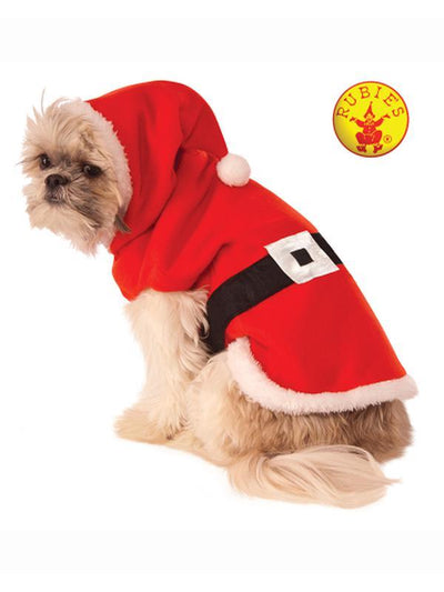 SANTA CLAUS PET COSTUME - SIZE M-Costumes - Pets-Jokers Costume Hire and Sales Mega Store