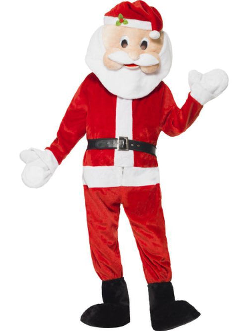 Santa Mascot Costume-Costumes - Mens-Jokers Costume Hire and Sales Mega Store