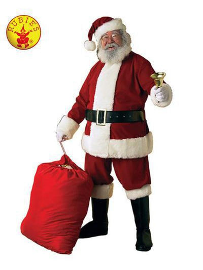 SANTA SUIT - DELUXE SIZE XL.-Costumes - Mens-Jokers Costume Hire and Sales Mega Store