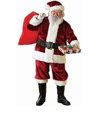 Santa Suit - Deluxe Size Xxl-Costumes - Mens-Jokers Costume Hire and Sales Mega Store