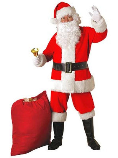 Santa Suit - Deluxe-Costumes - Mens-Jokers Costume Hire and Sales Mega Store