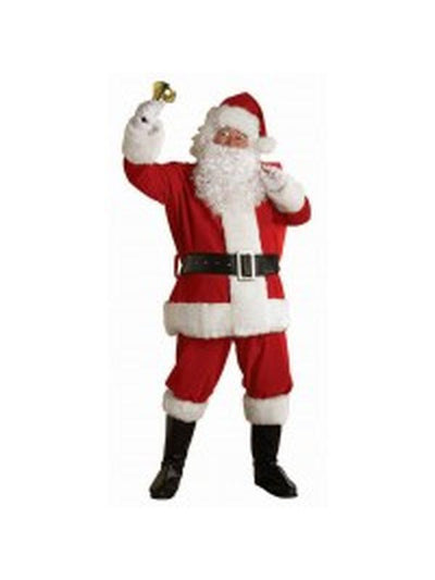 Santa Suit - Plush Size Xxl-Jokers Costume Mega Store