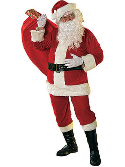 Santa Suit - Velour Size Std-Jokers Costume Mega Store