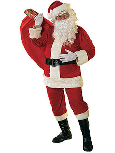 Santa Suit - Velour Size Xl-Jokers Costume Mega Store