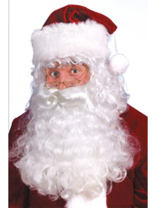 Santa Wig & Beard Set-Costumes - Mens-Jokers Costume Hire and Sales Mega Store