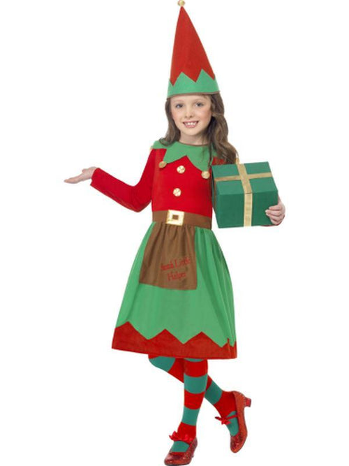 Santa's Little Helper Costume-Costumes - Girls-Jokers Costume Hire and Sales Mega Store