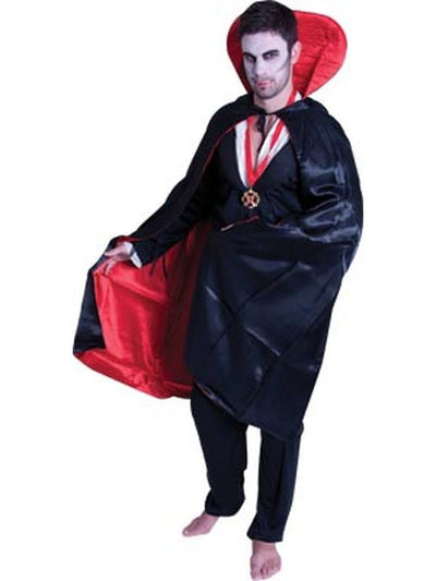 Satin Reversible Cape w/Collar - Deluxe-Costumes - Mens-Jokers Costume Hire and Sales Mega Store