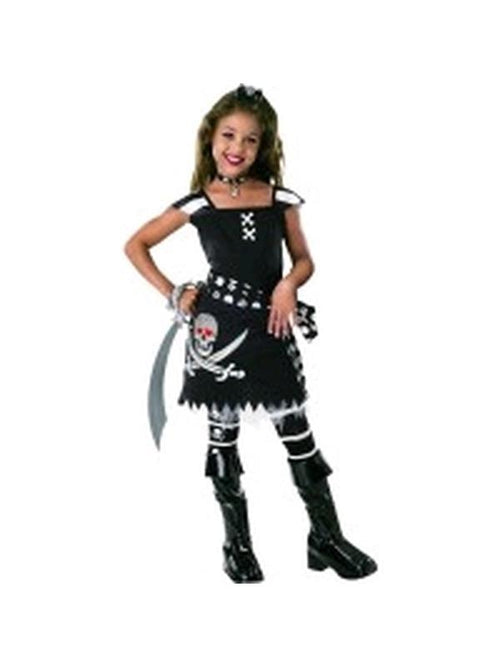Scar-Let Girls Pirate Costume - Size S-Costumes - Girls-Jokers Costume Hire and Sales Mega Store