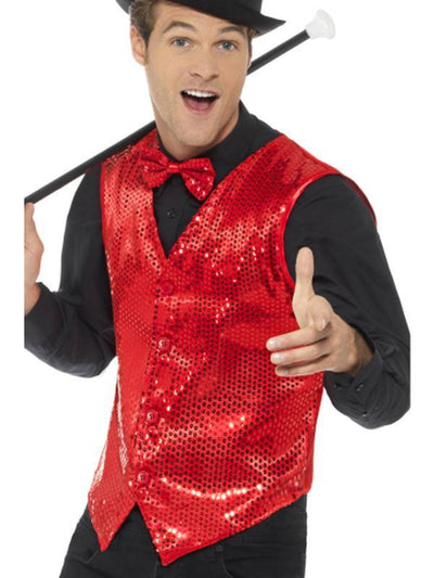 Sequin Waistcoat-Costume Accessories-Jokers Costume Hire and Sales Mega Store