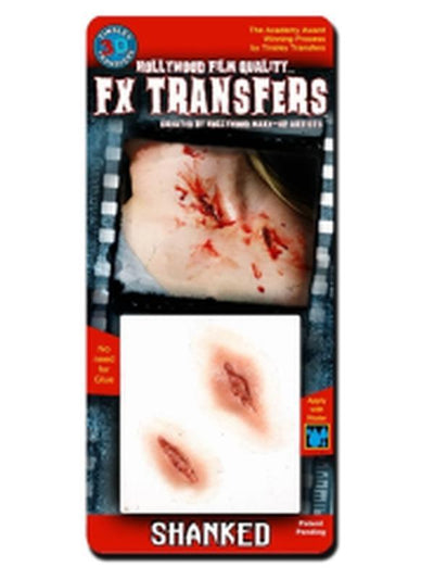 Shanked - 3D FX Tinsley Transfer - Small-Halloween Makeup & Special FX-Jokers Costume Hire and Sales Mega Store