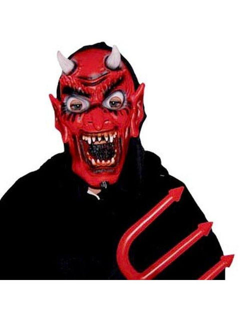 Sharp Tooth Satan - Rubber Mask-Masks - Halloween-Jokers Costume Hire and Sales Mega Store
