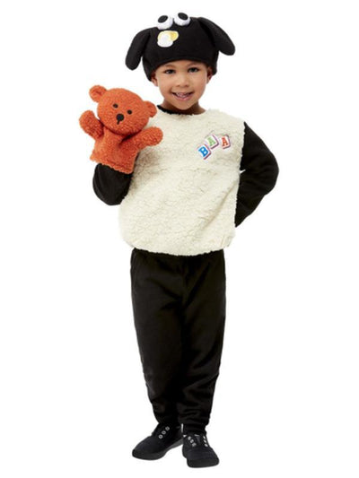 Shaun the Sheep Timmy Costume, White, Child-Costumes - Unisex-Jokers Costume Mega Store