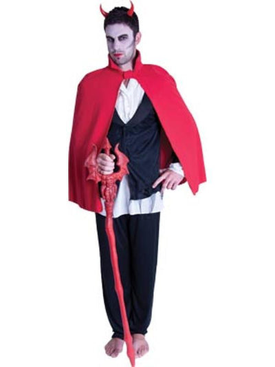 Short Devil Cape - Red-Costume Accessories-Jokers Costume Hire and Sales Mega Store