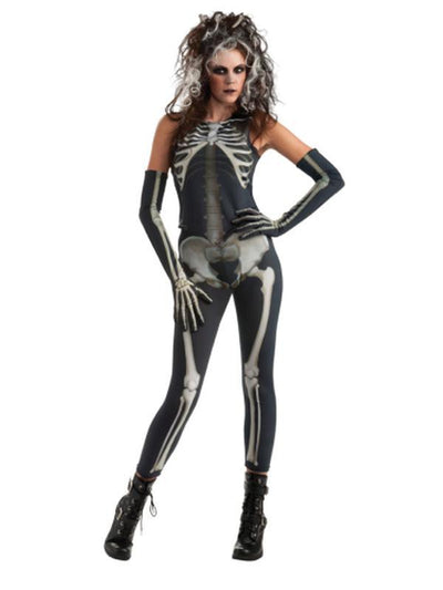 Skelee Girl Adult Costume - Size Std-Costumes - Women-Jokers Costume Hire and Sales Mega Store