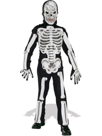 Skeleton Deluxe Costume - Size M-Costumes - Boys-Jokers Costume Hire and Sales Mega Store