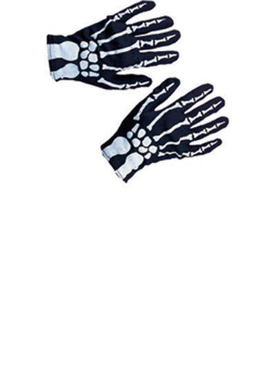 Skeleton Gloves Child-Halloween Accessories-Jokers Costume Hire and Sales Mega Store