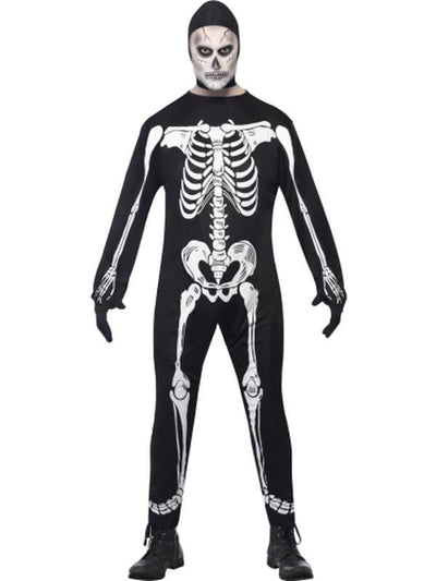 Skeleton Jumpsuit Costume-Costumes - Mens-Jokers Costume Hire and Sales Mega Store