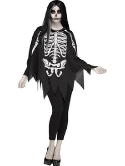 Skeleton Poncho - Skeleton-Costumes - Women-Jokers Costume Hire and Sales Mega Store